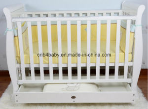 3 in 1 Sleigh Cot with Mattress (TC8033)