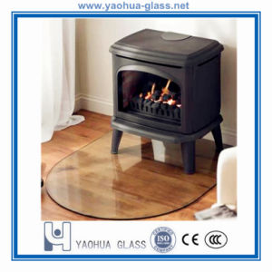 6mm/8mm/12mm Fireplace Hearth Plate Floor Plates Tempered Glass with Polished Bevelled Edge