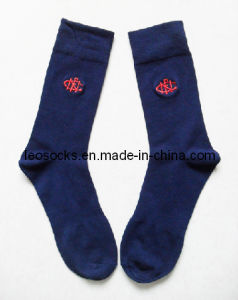 Embroidery Men Combed Cotton Socks pictures & photos
