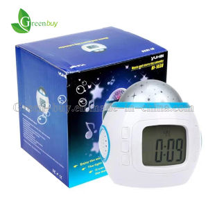 Fancy Robot LED Backlight Calendar Star Sky Music Projector Digital Alarm Clock