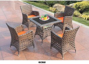 New PE Wicker Sofa with Cushions in Garden Sets pictures & photos