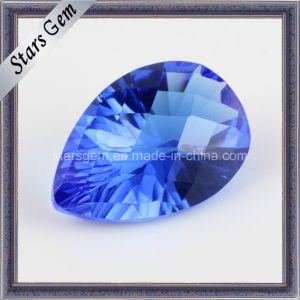 Tanzanite Blue Pear Millennium Cut Cubic Zirconia for Jewellry pictures & photos