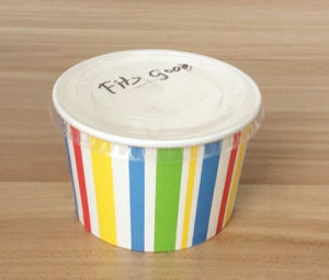 Disposable Paper Ice Cream Cup with Lids in Custom Printing pictures & photos