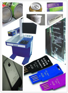 Metal Fiber Laser Marking Machine for Logo Names, Rings, Jewelry, I-Pad
