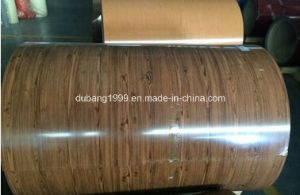New Wood Grain Decoration PVC Film Painted Steel PPGI Coils pictures & photos