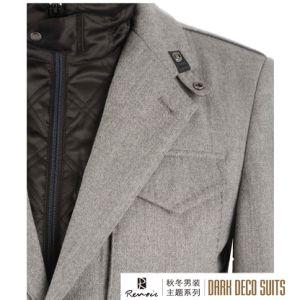 OEM 2017 Men′s Woolen Overcoat pictures & photos