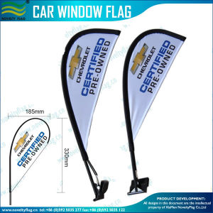 Advertisement Car Wing Flags, Teardrop Car Wing Flag (J-NF08F01020) pictures & photos
