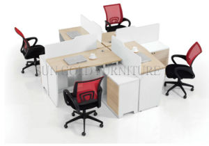 Modern Design 4 Seat Office Workstation Cubicle Office Furniture (SZ-WS161) pictures & photos