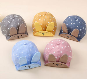 Latest Sunshade Cotton Rabbit Ear Spring and Summer Baby Cap pictures & photos