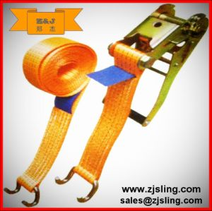 En12195-2 Flat Hook Ratchet Strap (can be customized) pictures & photos