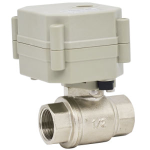 2 Way CE Electric Water Ball Valve with Manual Operation (T15-N2-C) pictures & photos