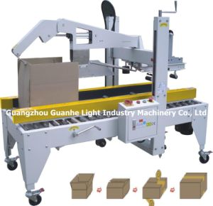 Automatic Carton Sealing Machine with Auto Cover-Folding pictures & photos