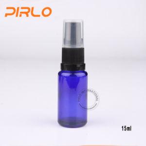 15ml Cobalt Glass Spray Bottles with Black Lotion Pump Sprayer pictures & photos