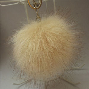 Promotional Fake Fox Fur Ball POM Pons Bag Charm Pendant pictures & photos