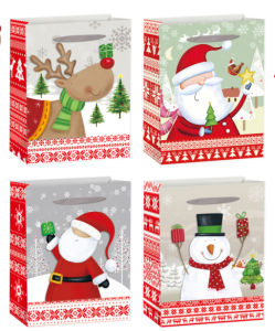 Sledge Printed Christmas Shopping Bag with UV pictures & photos