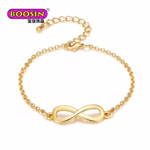 2018 Fashion Simple Gold Plated Infinity Charm Bracelet for Girls pictures & photos