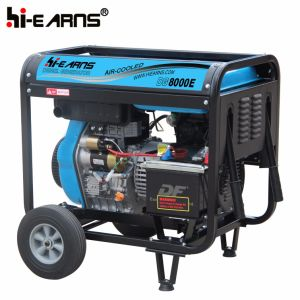 Air-Cooled Open Frame Type Diesel Generator Single Phase (DG8000E) pictures & photos
