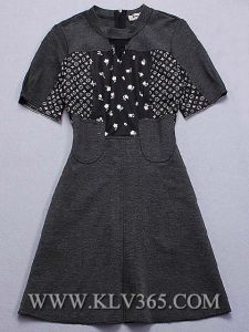 Lady Fashion Summer Cotton Short Sleeve Dress pictures & photos