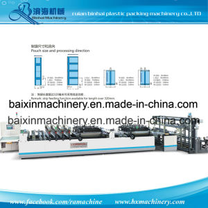 Double Lines Three Side Sealing Pouch Bag Making Machine pictures & photos