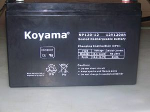 Rechargeable Deep-Cycle UPS AGM Power Lead-Acid Battery 12V 120ah Electric Solar Street Light Battery pictures & photos