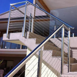 Modern Design 304 316 Outdoor Metal Stainless Steel Handrail Glass Railing Price pictures & photos