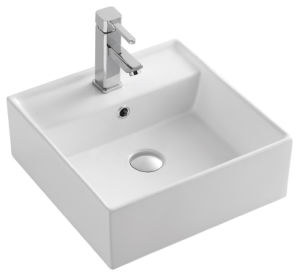 Jnklm91080 Bathroom Rectangular Shape Art Ceramic Porcelain Hand Wash Sink Basin pictures & photos