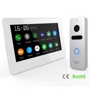 Memory Touch Screen 7 Inches Video Doorphone Home Security Intercom pictures & photos