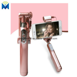 Wireless Bluetooth Extendable LED Selfie Stick Monopod with Integrated Remote for iPhone Samsung All Mobile Phones