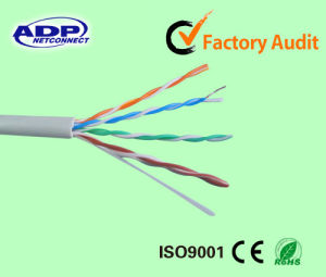 Indoor 4 Pairs UTP Cat5e Cable 24AWG CCA/Copper pictures & photos