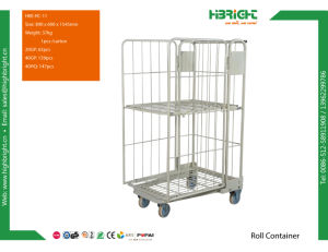 Warehouse Large Rolling Metal Wire Storage Container pictures & photos