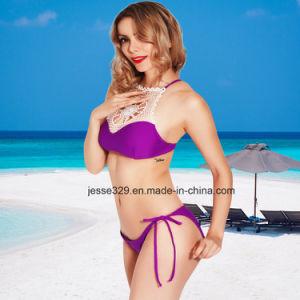 2017 Sexy Ladies Crochet Two-Piece Bikini Swimwear pictures & photos