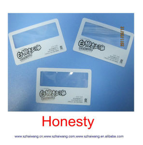 Factory Customized Business Cards Magnifier with Scale pictures & photos