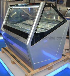 High Quality Ice Ceam Display Freezer with Fan Cooling System Fashion European Style pictures & photos