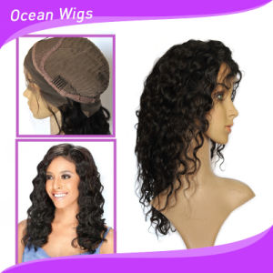 "8A Grade Lace Front Deep Wave Wig, 20"" Deep Wave Mongolian Hair Lace Front Wig pictures & photos"