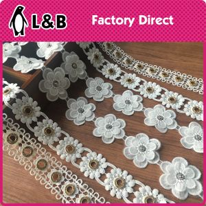 Soluble Embroidered Colored Trims Lace pictures & photos