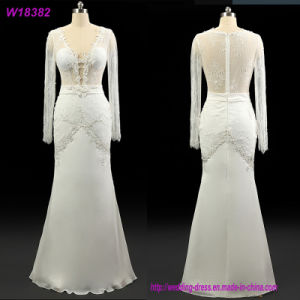 W18382 Bride Use and Long Sleeve Design Wedding Anniversary Dresses pictures & photos