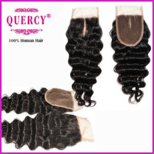 "3.5*4"" Silk Top Lace Deep Wave Closure Brazilian Virgin Remy Hair pictures & photos"