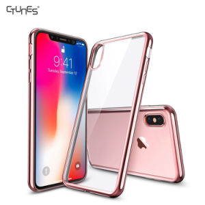 "Ctunes Crystal Transparent Clear Flexible Plating Soft Gel TPU Back Cover Shell Skin Case for Apple Iphonex 5.8"" pictures & photos"