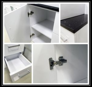 Modern Sanitary Ware Glossy White MDF Wooden Bathroom Cabinet with Glass Door (P392-600G) pictures & photos