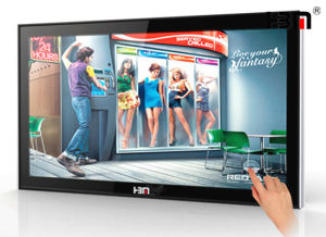 Advertising LCD Display Floor Standing 55 Inch Touch Screen Kiosk pictures & photos