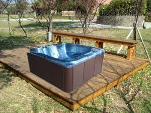 New Design Fashionable Outdoor Acrylic Square SPA Massage Tub (M-3362) pictures & photos