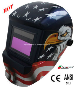Solar Powered/Decals Auto-Darkening Welding Helmet (G1190DB) pictures & photos