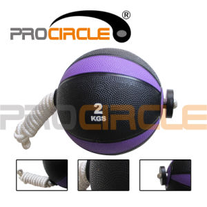 Fitness Rubber Medicine Ball with Rope (PC-MB1096-1105) pictures & photos