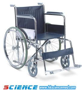 Economic Steel Manual Wheelchair (SC-SW08) pictures & photos