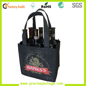 Promotional 6 Bottle Non Woven Wine Bottle Bag (PRB-809)
