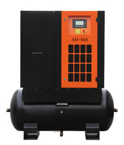 5.5kw 7.5HP Tank Mounted Screw Air Compressor for Sale pictures & photos