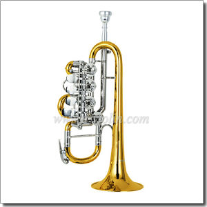 Yellow Brass Piston Lacquer Finish Bb Key Rotary Trumpet (TP8820) pictures & photos