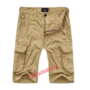 Men Fashion Comfortable Loose Cargo Pockets Cotton Shorts (S-1516) pictures & photos