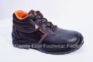 High Cut Black Embossed PU Leather Safety Shoe U Power-O2