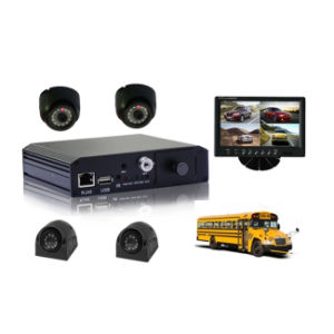 New 4CH Mobile Car DVR with 3G Live Video and GPS Tracking pictures & photos